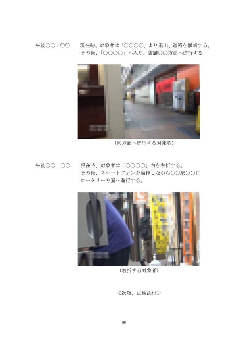 千葉県松戸市のラブ探偵事務所浮気調査報告書25